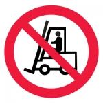 Знак P07 Запрещается движение средств напольного транспорта •ГОСТ 12.4.026-2015• (Пленка 200 х 200)