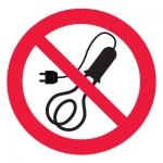 Знак P21-1 Запрещается пользоваться электронагревательными приборами •ГОСТ 12.4.026-2015• (Пленка 200 х 200)