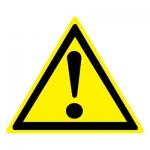 Знак W09 Внимание. Опасность (прочие опасности) •ГОСТ 12.4.026-2015• (Пластик 200 х 200)
