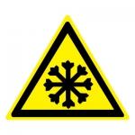 Знак W17 Осторожно. Холод •ГОСТ 12.4.026-2015• (Пластик 200 х 200)
