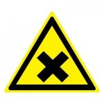 Знак W18 Осторожно. Вредные для здоровья аллергические (раздражающие) вещества •ГОСТ 12.4.026-2015• (Пластик 200 х 200)